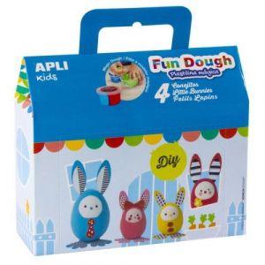 APLI Fun Dough Boîte de 4 petits lapins en pâte