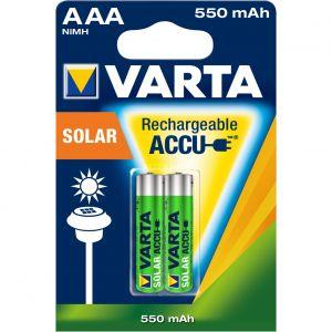 Varta Accus NiMH R03 (AAA) 1.2 V 550 mAh Longlife Solar x2