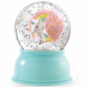 Little Big Room by Djeco Boule à neige lumineuse Licorne