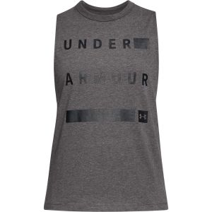 Under Armour Débardeur Femme Muscle - L Charcoal Medium Heat