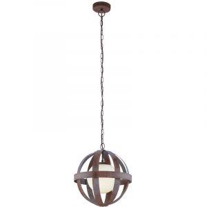 Eglo Lampe à suspension de couleur rouille avec cage en verre WESTBURY1