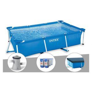 Intex Kit piscine tubulaire rectangulaire 3,00 x 2,00 x 0,75 m + Filtration à cartouche + Bâche à bulles