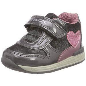 Geox B Rishon B, Sneakers Basses bébé Fille, Gris (Grey/Pink C0502), 23 EU