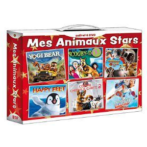 Coffret Mes animaux stars - Happy Feet + Animaux et Cie + Yogi l'ours + Comme Chiens et Chats 2 + Les chimpanzés de l'Espace 2 + Scooby-Doo, le film