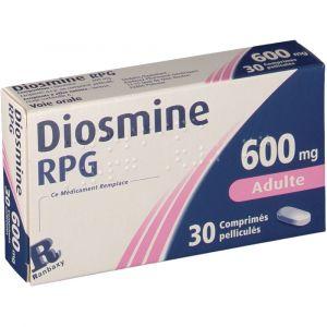 Ranbaxy Diosmine RPG 600 mg - 30 Comprimés