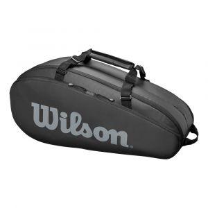 Wilson Sac de Tennis, Tour 2 Comp Small, Noir, Unisexe, Jusqu'à 6 Raquettes, WRZ849306