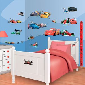 Walltastic 81 stickers Cars Disney