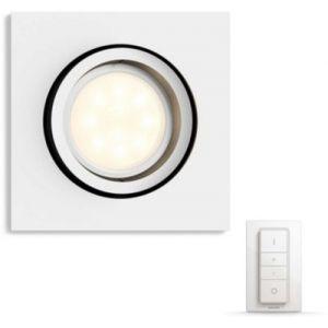 Philips Ampoules connectées HUE SPOT CARRE BLANC + VARIATEUR
