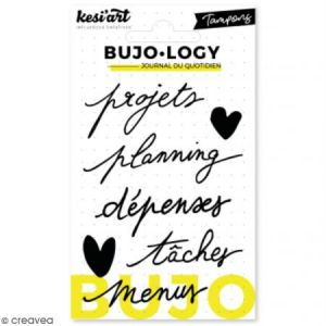Kesi'art Tampon transparent pour bullet journal - Bujo Logy - Projets - 7 pcs