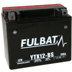 Fulbat Batterie AGM YTX12-BS 12V 10Ah 180A Longueur: 150 x Largeur: 87 x Hauteur: 130