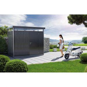 Biohort Abri de jardin métal 7,56 m² Ep. 0,53 mm HighLine gris foncé