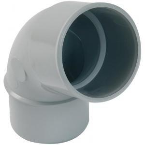 Nicoll CJ6GT - Coude 67°30 mâle-femelle diamètre 50 PVC Gris