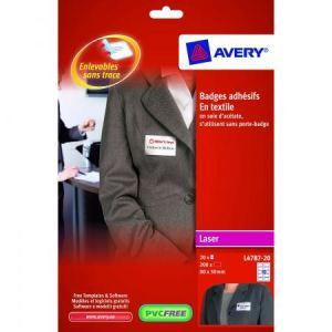 Avery-Zweckform 200 badges adhesifs en tissus (5 x 8 cm)