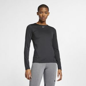 Nike Haut en meshà manches longues Pro pour Femme - Noir - Taille L - Female