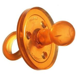 Goldi Sauger 10082 - Sucette bout rond en caoutchouc naturel (12 mois +)