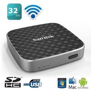 Sandisk SDWS1-032G - Wireless Media Drive 32 Go USB 2.0 WiFi