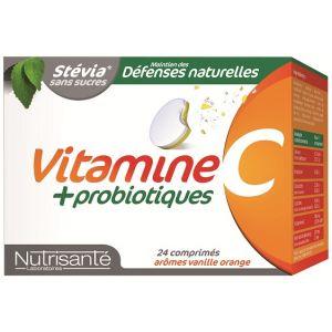 Nutrisanté Vitamines c + souches microbiotiques, 24 comprimés à croquer