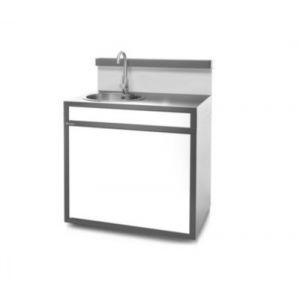 Forgeadour Support plancha gril SEAF GB Evier acier fermé Gris_Blanc