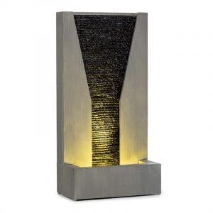 Blumfeldt Riverrun fontaine de jardin intérieur extérieur pompe 12 W LED câble de 10 m galvanisé