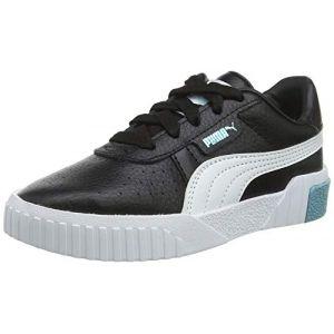 Puma Chaussure Basket Cali pour enfant fille, Noir/Bleu, Taille 35