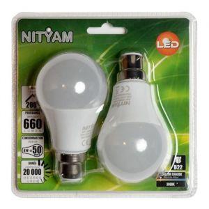 Nityam Ampoule LED STANDARD DEPOLIE B22 8W (X2)