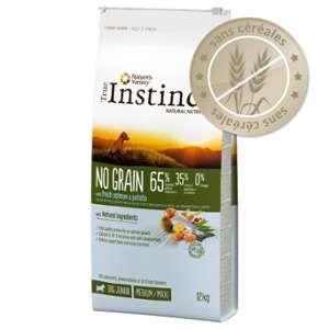 True instinct No Grain Medium-Junior saumon pour chien - 2 x 12 kg