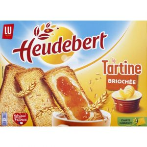 Lu Heudebert - Tartine briochée, finement grillées, sachets fraîcheur - La boîte de 320g