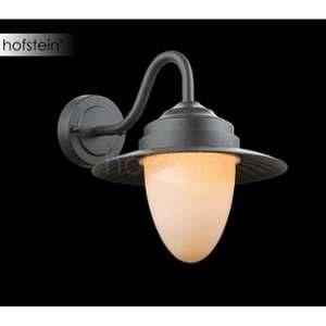 Globo Lighting Applique extérieure aluminium noir - Verre opal