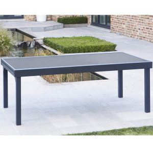 Wilsa Modulo - Table de jardin 8/12 personnes 200/320 x 100 x 72 cm