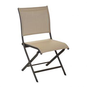 Chaise de jardin Elégance couleur café / beige