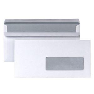 5* office 250 enveloppes 11 x 22 cm avec fenêtre 4,5 x 10 cm