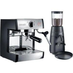 Graef Machine expresso Pivalla ES702 et broyeur à café CM702