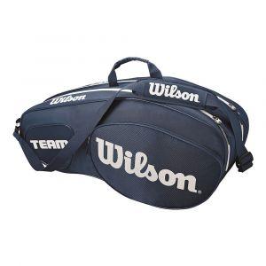 Wilson Sac de Tennis Unisexe Pour les joueurs experts Team III 6 PK Taille Unique Bleu/Blanc WRZ850806