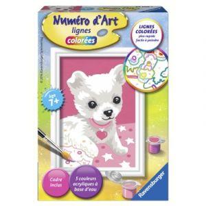 Ravensburger Petit Chihuahua - Peinture au numéro Numéro d'Art lignes colorées