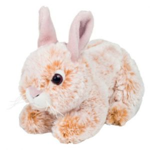 Hermann Teddy Peluche lapin sédentaire assis beige, 18 cm
