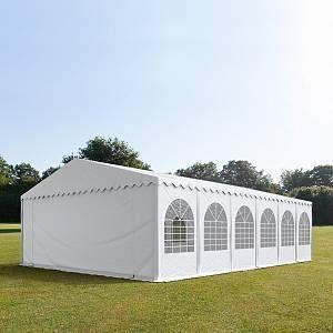 Intent24 Tente de réception 7x12 m - anti-feu H. 2,6m blanc PVC 550g/m² pavillon 100% imperméable.FR