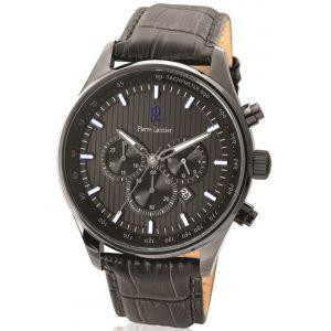 Pierre Lannier 260D4 - Montre pour homme avec bracelet en cuir Chronographe