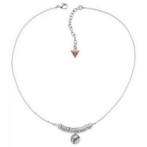Guess Ubn12203 - Collier sweetly stacked rhodié anneaux