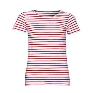 Sol's T-shirt Sols Miles Tshirt rayé à manches courtes Multicolor - Taille EU XXL,EU S,EU M,EU L,EU XL,EU XS