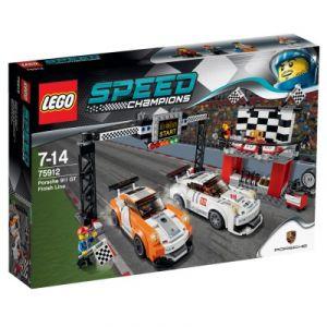 Lego 75912 - Speed Champions : La ligne d'arrivee de la Porshe 911 GT
