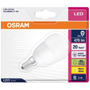 Osram Ampoule led P45 E14 5,7 watt (eq. 40 watt) - Finition - Dépoli