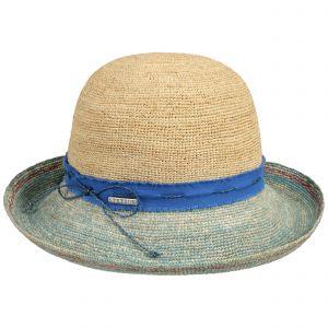 Stetson Chapeau en Paille Crochet Femme - D'Ete de Plage Soleil avec Ruban Gros Grain Printemps-ete - XL