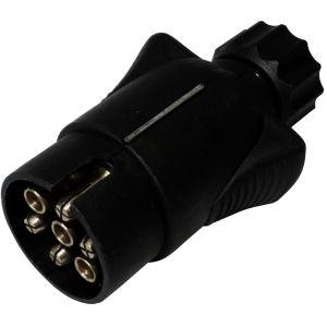 Aerzetix : Fiche mâle 7pin prise connecteur de remorque 7 broches 12V 10mm C12373 attelage faisceau câble câblage feux arrières stop