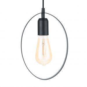Eglo Lampe suspendue BEDINGTON 18 cm Noir 49775