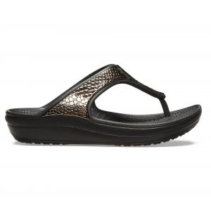 Crocs Tongs Sloane Metallic Texture Flip