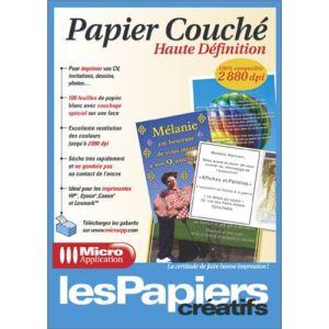 Micro application 100 feuilles de papier couché haute définition (A4)