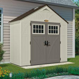 Suncast Woodgrain 3.45 m² - Abri de jardin résine haute qualité + Plancher