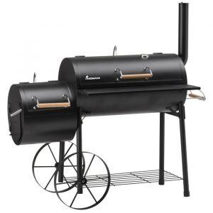 Landmann Tennessee 300 - Barbecue fumoir 149,5 x 70 x 140 cm en acier émaillé massif