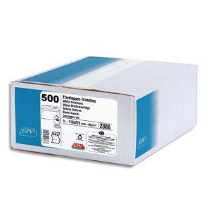 Gpv 500 enveloppes 16,2 x 22,9 cm (90 g)