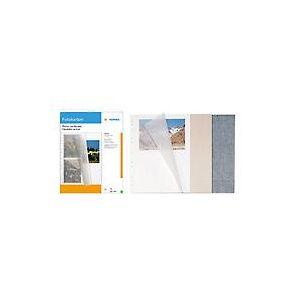Herma 7571 - Etui de 10 feuillets carton pour photos, 230 x 297 mm, blanc